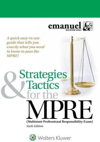 Strategies Tactics for the MPRE Multistate Professional Responsibility Exam Bar Review product image
