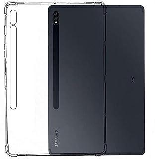 MARGOUN Clear Case for Samsung Galaxy Tab S7 Plus 12.4 inch 2020 (SM-T970 / T975 / T976) Reinforced Corners TPU Cushion Bu...