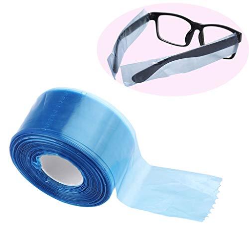 200 Stück Einweg Brillenbügelschutz Schutzabdeckung Schutzdeckel, Blau