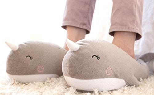 Smoko Narwhal Heated Footwarmers Slippers (USB Wired)