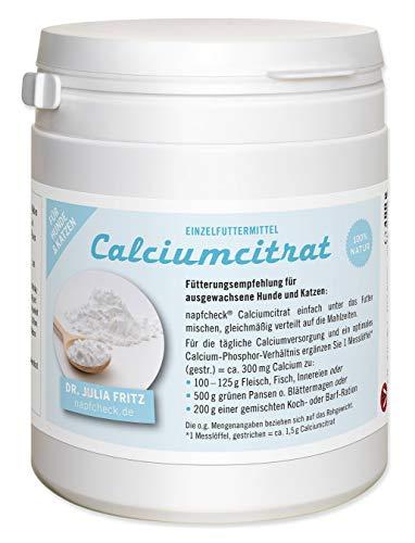 napfcheck Calciumcitrat - zur täglichen Ergänzung - für Hunde und Katzen - 400 g