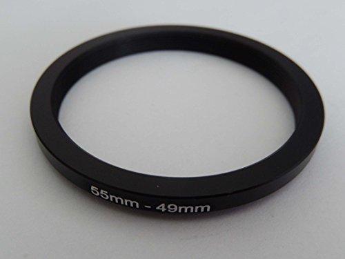 vhbw Anillo Adaptador Step Down, Filtro Adaptador 55mm-49mm Negro para cámaras Tamron...