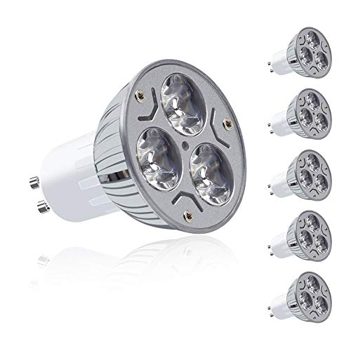 MENGS 6 Stück GU10 LED Kaltweiss Lampen 3W 180 Lumen LED Leuchtmittel 6000 Kelvin Kaltweiß, Ersatz 20W Halogenlampen 60 ° Abstrahlwinkel Reflektorlampen, CRI>80, AC 85-265V