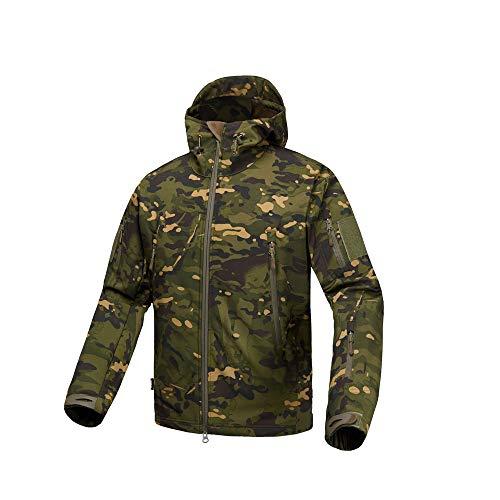 YJF-JK Montagne Veste V4.0 Hommes Veste Softshell léger Respirant Manteaux imperméables Coupe-Vent avec Capuche et Poches Big,H,M