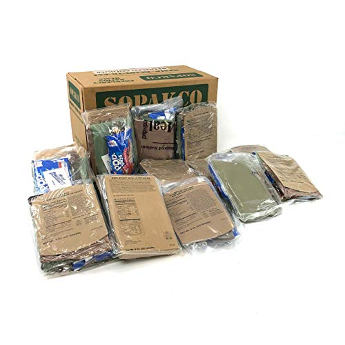 Sopakco MRE Meals Ready-to-Eat 14ct Case 10/20 Inspect Lot 7280 Reduced Sodium