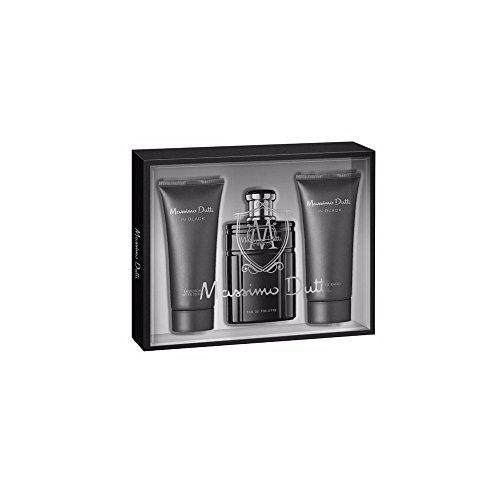 Massimo Dutti In Black Set de Agua de Colonia, Bálsamo para Después del Afeitado y Gel de Ducha - 300 ml