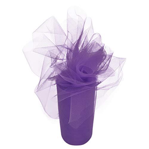 Purple Tulle Fabric Rolls Bolt for Wedding Decorations Party Girls Tutu Dress Tulle Table Skirt Baby Shower Birthday Parties Home Decor - Elegant Lavander Tulle Bolt Spool