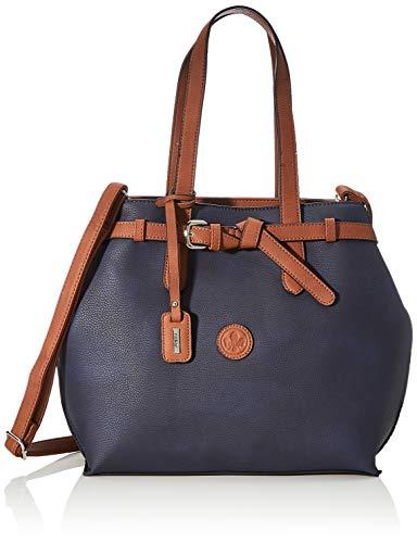 Rieker Damen Handtasche H1070, Blau (pazifik/braun), 330x110x310 cm