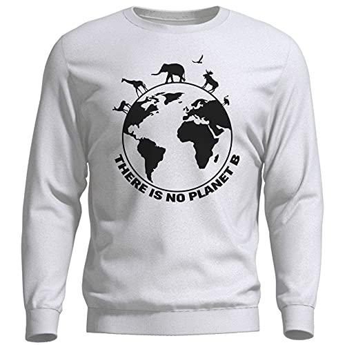 ROSETRAIL There Is No Planet B Earth Day Bianca Felpa Unisex Size L