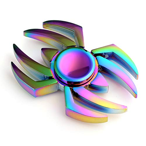 MAYBO SPORTS Wiitin Cool Fidget Hand Spinner Toy Made by Metal , The Amazing Spider Shaped Metal Fidget Spinner, Mixed Color
