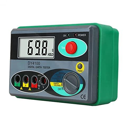 Resistance Tester Masse Digital Megohmmeter DY4100 Digitale Isolationstester 0-2000 Ohm Grau, Elektrotester