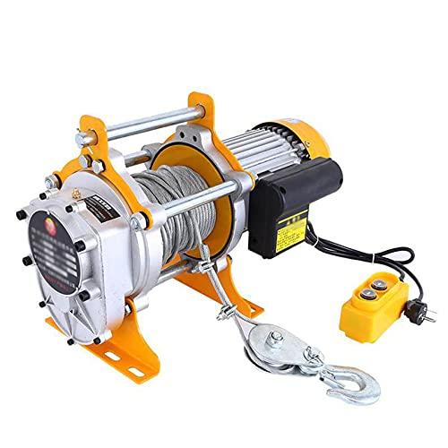 JCX Cabrestante Polipasto 1700W, Polipastos Electricos Elevador Electrico 0,8 / 1t con...