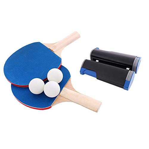 Purchase MotH Portable Table Tennis Set, Ping Pong Paddle Set with Retractable Net, All-in-ONE Ping ...