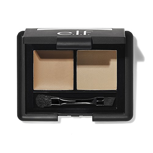 e.l.f. Cosmetics Studio Eyebrow Kit Brow Powder and Wax Duo for More Defined Eyebrows, Brush Included, Light Tint