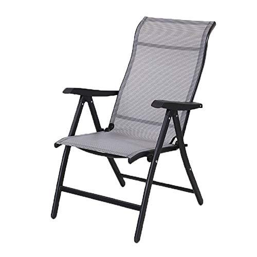 Chaise Lounge/Lounge strandstoel - Bedframe Verstelbaar opklapbed Campinguitrusting Twin Bedframe Zero Gravity Chair Lounge Chair Outdoor Zit-ligstoel/Draagbaar/Computerstoel (Color : Gray)