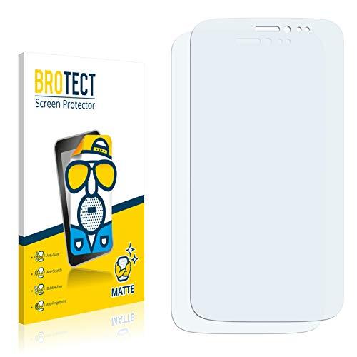 BROTECT 2X Entspiegelungs-Schutzfolie kompatibel mit Wiko Darkside Bildschirmschutz-Folie Matt, Anti-Reflex, Anti-Fingerprint