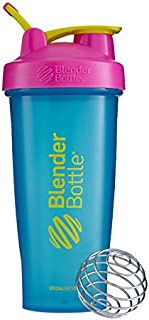 Blender Bottle Special Edition Classic Shaker Bottle with Loop, Turquoise/Pink/Yellow, 825 ml Capacity