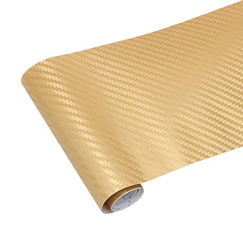 XSYYQYLL Automotive Interior Sticker Car Styling Vinyl Wrap Film 3D Car Stickers Decals Carbon Fiber Car Decoration Accessories protecting mask (Color Name : Gold)