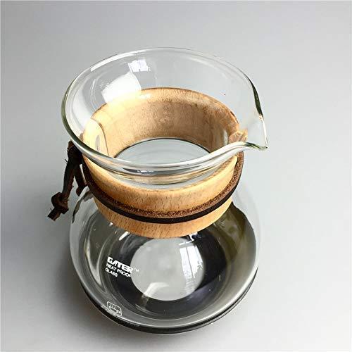 Dpliu Geschirre Kaffeekanne 400 ml Iced Kaffeemaschine Glas EIS Tropfkaffeekanne Percolator Set EIS-Kaffee-Glasfilter kaltes Gebräu Espressomaschine