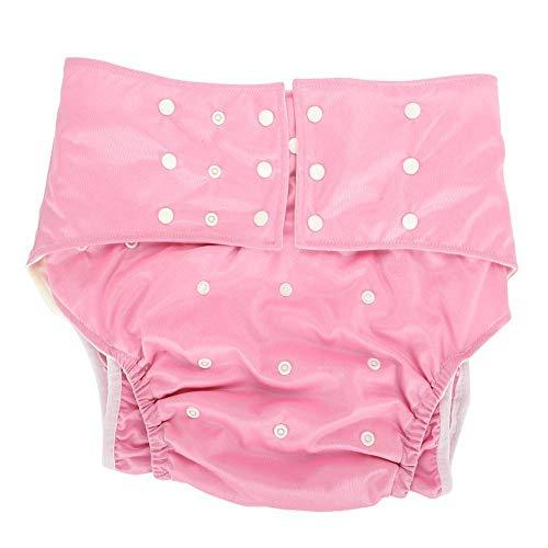Pañal de bolsillo, pañal de bolsillo para adultos, cómodo, impermeable, conveniente, ajustable, mujer embarazada discapacitada para adultos(Pink)