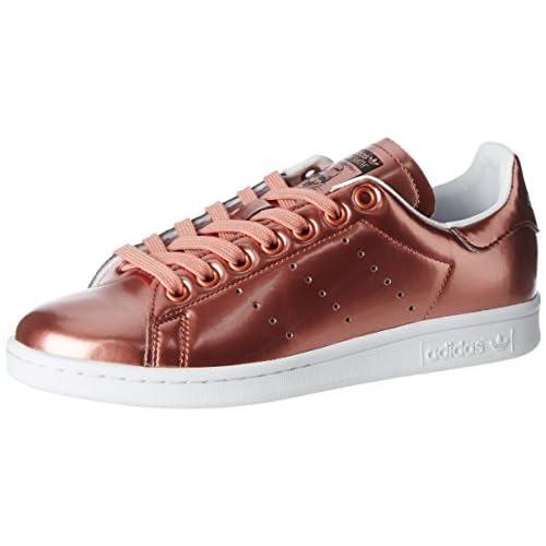 adidas Stan Smith W, Scarpe da Ginnastica Basse Donna, Multicolore (Copper Metallic/Copper Metallic/Footwear White), 37 1/3 EU