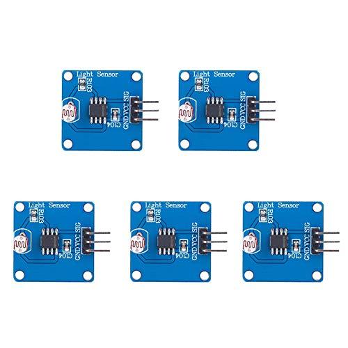 Módulo Sensor De Luz Profesional De Detección De Intensidad De Luz Digital 5 Uds Placa De Sensor Fotosensible GND VCC Sig