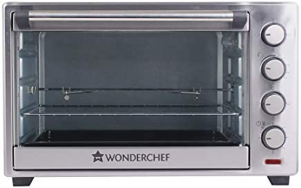 Wonderchef Oven Toaster Griller (OTG) - 48 litres, Steel – with Rotisserie, Auto-Shut Off, Heat-Resistant Tempered Glass, 6-Stage Heat Selection