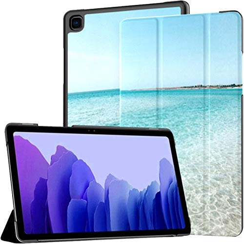 Case For Samsung Galaxy Tab A7 10.4 Inch Tablet 2020(sm-t500/t505/t507), Woman On Lilo Sea Water Girl Multiple Angle Stand Cover With Auto Wake/sleep