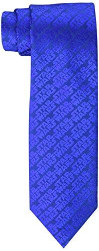 STAR WARS Corbata para hombre Episodio 4 All Over Logo, Azul / Patchwork, Talla única
