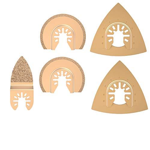 Juego de 5 piezas de accesorios oscilantes, multiherramienta, hojas de sierra, herramienta multifunción para plástico/madera/metal suave para Fein Multimaster Dremel Dewalt Makita Einhell