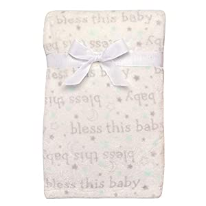 Baby Starters Textured Dot Blanket with Satin Trim