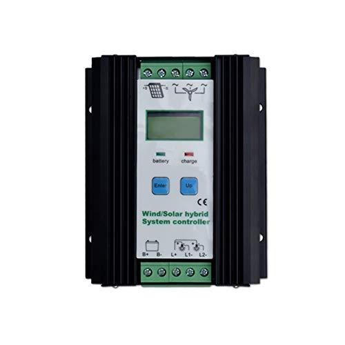 Controlador híbrido solar de 500 W Controlador híbrido de batería de 300 W Controlador de batería solar de 200 W Controlador de batería automático de 12V / 24V con pantalla LCD grande,Solar Ch