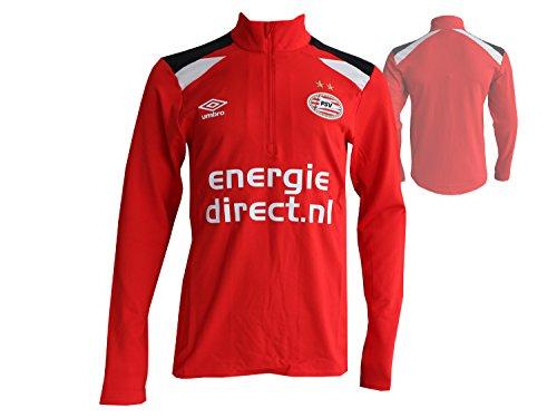 UMBRO PSV Eindhoven Fußball Training Shirt Eredivisie Fussball Jersey PSV Trikot rot, Größe:S