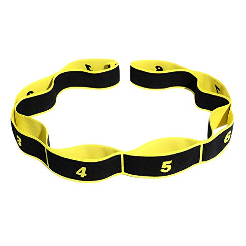 Ehghsgduh Latin Dance Stretch Strap with 8 Loops Elastic Nylon Latex Band Stretching Tool Fitness Sport Exercise Stretching Supplies,HB,United States