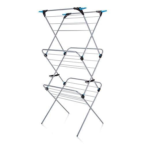 Minky Homecare 3 Tier Plus Drying Rack, 49', Silver