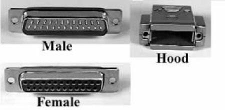 Solder Type Series D Sub Connectors, Number of PINS: 15, Hood, Features: Chrome Coated Hood Ensures Proper RF Shielding, All HAR