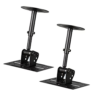 Pyle Speaker Wall Ceiling Mount Stand - Black Speaker Mounting Bracket w/ Adjustable Swivel Tilt, Retractable Telescopic Arm - Home Surround Sound System Bookshelf Satellite Speakers - PSTNDC31 (Pair) (B01HZMCSXM) | Amazon price tracker / tracking, Amazon price history charts, Amazon price watches, Amazon price drop alerts