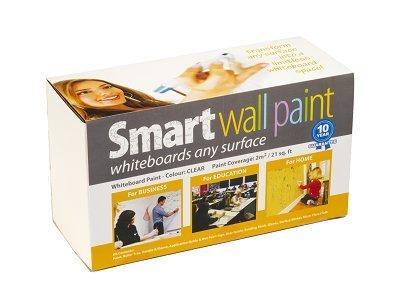 Pintura de Pizarra Smart transparente 2m² - pizarra transparente para usar con otros colores, rojo, turquesa, azul, transparente - borrado en seco - pared de oficina, estudio o cocina