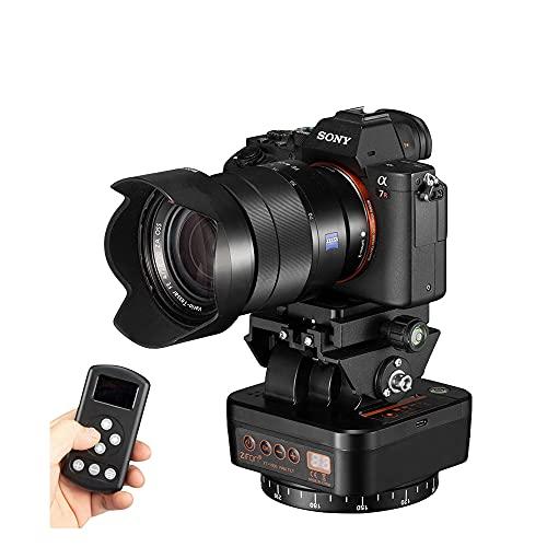 ZIFON YT-1000自動電動回転パノラマヘッドリモコン雲台ビデオ三脚ヘッドスタビライザースマートフォンカメラ用
