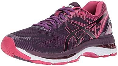 ASICS Women's Gel-Nimbus 19 Running Shoe, Black/Cosmo Pink/Winter Bloom, 6.5 Medium US