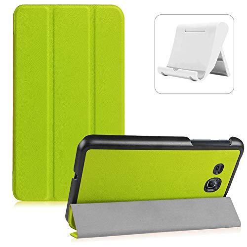 Shinyzone Coque pour Samsung Galaxy Tab A 7.0 T280/T285,Fonction Support avec Rabat à Trois Volets Magnétique Veille/Réveil Automatique Housse Étui de Rigide en Cuir PU,Vert
