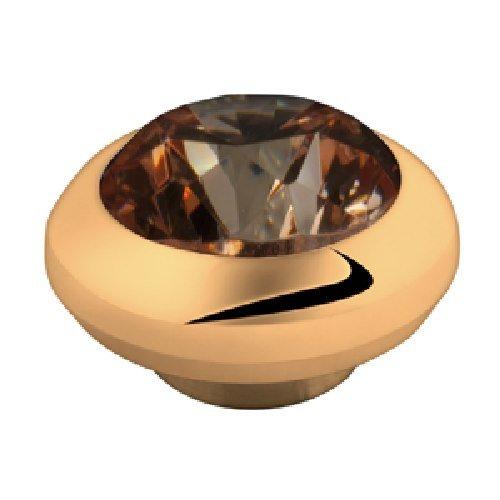 MelanO Magnetic Aufsatz / Fassung klein 5 mm Edelstahl beschichtet goldfarben mit Zirkonia in Farbe champagner M01SR 003