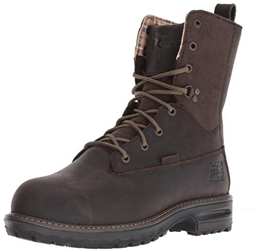 "Timberland PRO Women's Hightower 8"" Composite Toe Waterproof Insulated Industrial Boot, Brown Distressed Leather, 5.5"