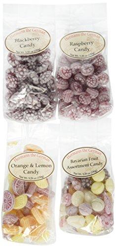 Hermann the German Variety Pack - Blackberry, Orange & Lemon, Raspberry, Assorted Fruit (5.29 oz each)