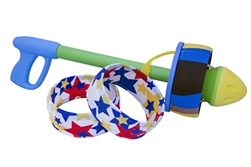 HurriK9 - 65+ Foot Extra-Tough Ring Launcher for Dogs (Starter Pack - Launcher +3 Extra-Tough Spandex Rings)