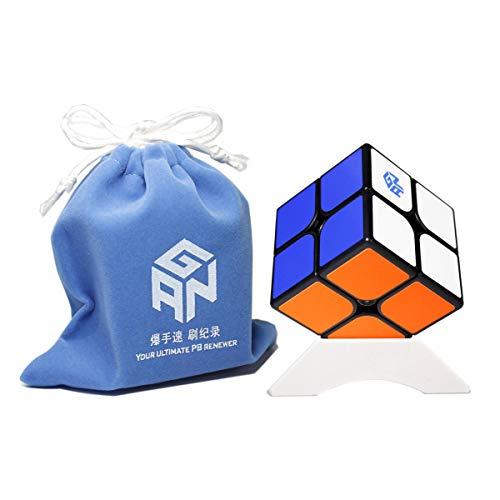 FunnyGoo Ganspuzzle GAN 251 M Speed Cube GAN251M GAN251 M 2x2 Magic Cube Puzzle Cube (Negro)
