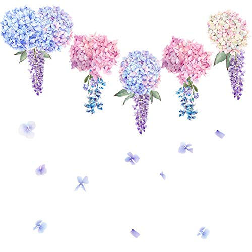 TAOYUE Paarse Lavendel Bloem Muursticker Woonkamer Slaapkamer Slaapbank Achtergrond Decoratie Huisdecoratie Combinatie Zelfklevende Stickers