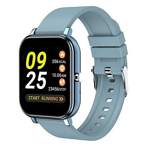 LISRUILY - Reloj inteligente para mujer y hombre, con podómetro, impermeable, cronómetro, alarma, dividido modos deportivos, para iPhone y Android
