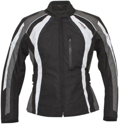 Roleff Racewear Damen Motorradjacke Venedig Ro 980 Schwarz Weiß Grau Größe L Auto