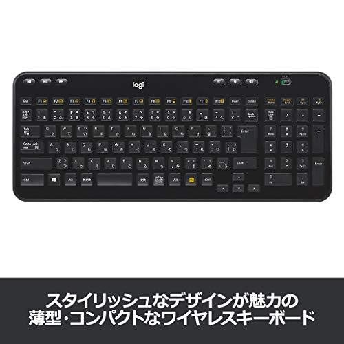 『ロジクール ワイヤレスキーボード K360r キーボード ワイヤレス 静音 無線 薄型 小型 テンキー付 Unifying 国内正規品 3年間無償保証』の1枚目の画像